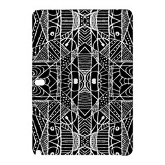 Black And White Tribal Geometric Pattern Print Samsung Galaxy Tab Pro 12 2 Hardshell Case
