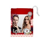 love - Drawstring Pouch (Medium)