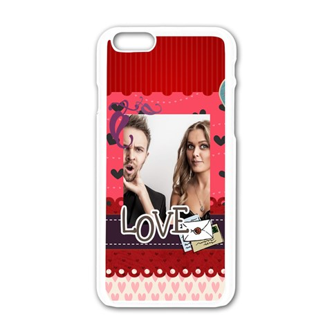 Love By Love   Apple Iphone 6/6s White Enamel Case   Pvn2ywl8g3rg   Www Artscow Com Front
