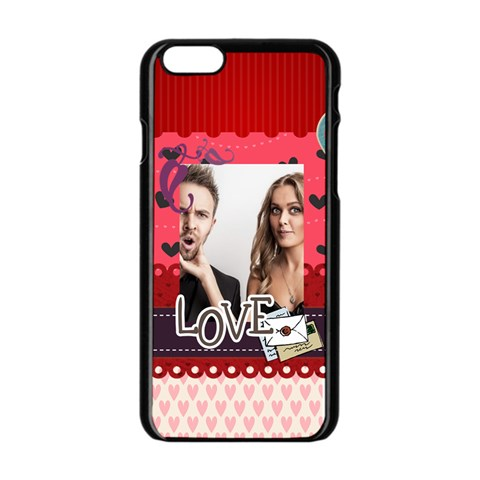 Love By Love   Apple Iphone 6/6s Black Enamel Case   Lkuy0l7fn0a8   Www Artscow Com Front