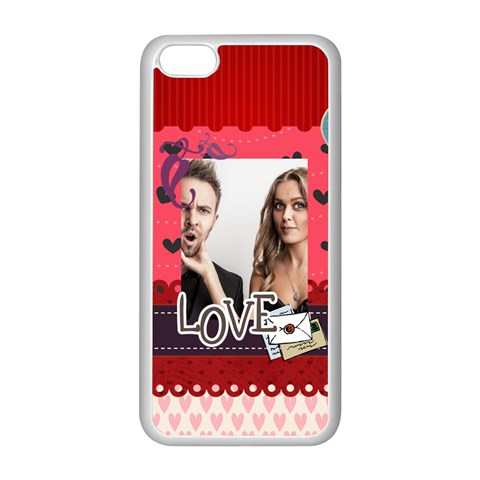 Love By Love   Iphone 5c Seamless Case (white)   G74c63kls3ec   Www Artscow Com Front