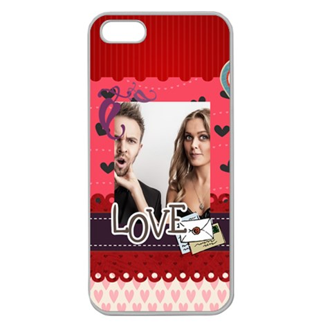 Love By Love   Apple Seamless Iphone 5 Case (clear)   Kw36nf3s8lbm   Www Artscow Com Front