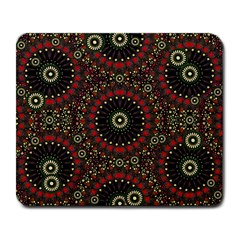 Digital Abstract Geometric Pattern In Warm Colors Large Mouse Pad (rectangle) by dflcprints