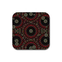 Digital Abstract Geometric Pattern In Warm Colors Drink Coasters 4 Pack (square) by dflcprints