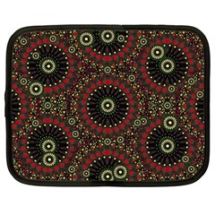 Digital Abstract Geometric Pattern In Warm Colors Netbook Sleeve (large) by dflcprints