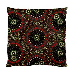 Digital Abstract Geometric Pattern In Warm Colors Cushion Case (single Sided)  by dflcprints