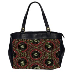Digital Abstract Geometric Pattern In Warm Colors Oversize Office Handbag (two Sides) by dflcprints