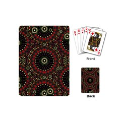 Digital Abstract Geometric Pattern In Warm Colors Playing Cards (mini) by dflcprints