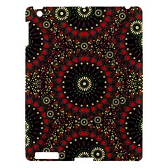 Digital Abstract Geometric Pattern In Warm Colors Apple Ipad 3/4 Hardshell Case by dflcprints