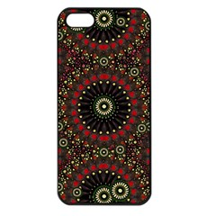 Digital Abstract Geometric Pattern In Warm Colors Apple Iphone 5 Seamless Case (black) by dflcprints