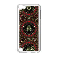 Digital Abstract Geometric Pattern In Warm Colors Apple Ipod Touch 5 Case (white) by dflcprints
