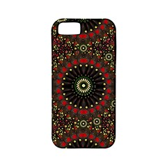 Digital Abstract Geometric Pattern In Warm Colors Apple Iphone 5 Classic Hardshell Case (pc+silicone)