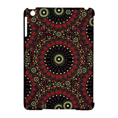 Digital Abstract Geometric Pattern In Warm Colors Apple Ipad Mini Hardshell Case (compatible With Smart Cover)