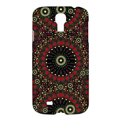Digital Abstract Geometric Pattern In Warm Colors Samsung Galaxy S4 I9500/i9505 Hardshell Case by dflcprints