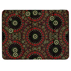 Digital Abstract Geometric Pattern In Warm Colors Samsung Galaxy Tab 7  P1000 Flip Case by dflcprints