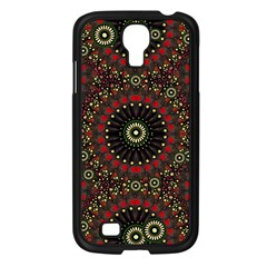 Digital Abstract Geometric Pattern In Warm Colors Samsung Galaxy S4 I9500/ I9505 Case (black)