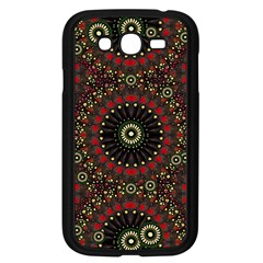 Digital Abstract Geometric Pattern In Warm Colors Samsung Galaxy Grand Duos I9082 Case (black)