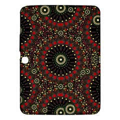 Digital Abstract Geometric Pattern In Warm Colors Samsung Galaxy Tab 3 (10 1 ) P5200 Hardshell Case