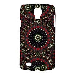 Digital Abstract Geometric Pattern In Warm Colors Samsung Galaxy S4 Active (i9295) Hardshell Case