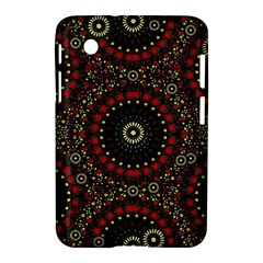 Digital Abstract Geometric Pattern In Warm Colors Samsung Galaxy Tab 2 (7 ) P3100 Hardshell Case