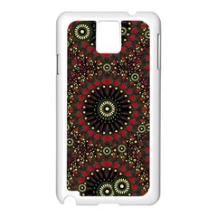 Digital Abstract Geometric Pattern In Warm Colors Samsung Galaxy Note 3 N9005 Case (white)