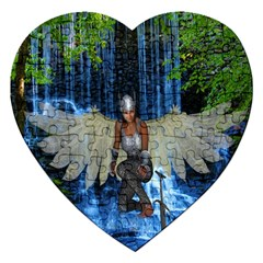 Magic Sword Jigsaw Puzzle (heart) by icarusismartdesigns