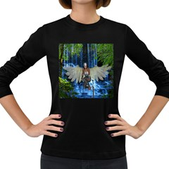 Magic Sword Women s Long Sleeve T Shirt (dark Colored) by icarusismartdesigns