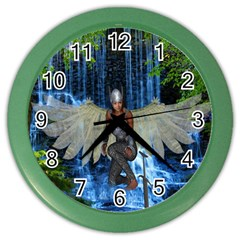 Magic Sword Wall Clock (color) by icarusismartdesigns