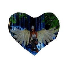 Magic Sword 16  Premium Heart Shape Cushion  by icarusismartdesigns