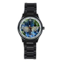 Magic Sword Sport Metal Watch (black) by icarusismartdesigns