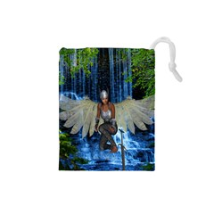 Magic Sword Drawstring Pouch (small) by icarusismartdesigns