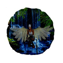 Magic Sword 15  Premium Flano Round Cushion  by icarusismartdesigns