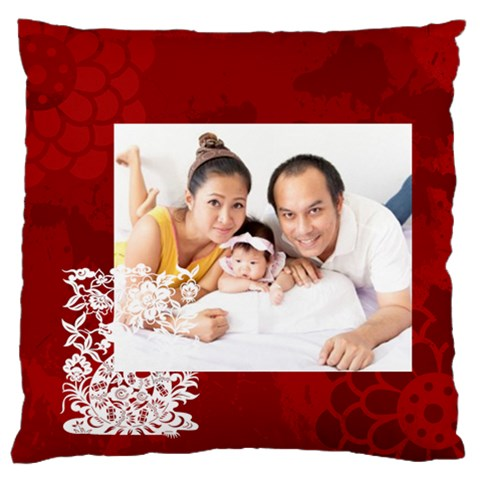 Chinese New Year By Ch   Large Flano Cushion Case (one Side)   Othg2ifthm0s   Www Artscow Com Front