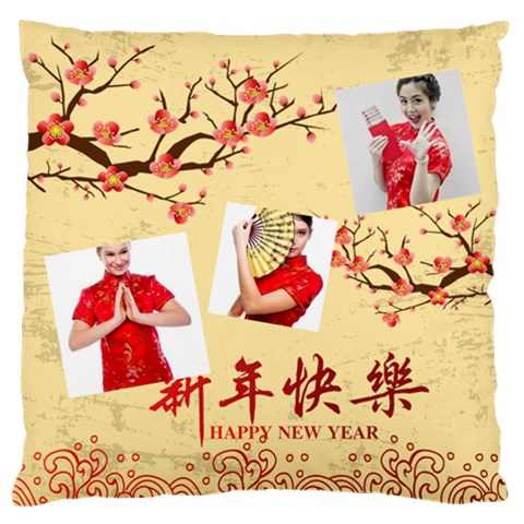 Chinese New Year By Ch   Large Flano Cushion Case (one Side)   1x85v0cyjg17   Www Artscow Com Front