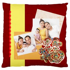 Chinese New Year By Ch   Large Flano Cushion Case (two Sides)   6tcrie6u0r9x   Www Artscow Com Front