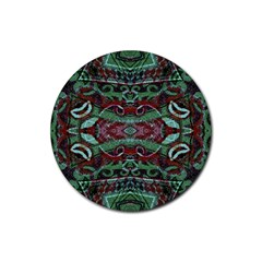 Tribal Ornament Pattern In Red And Green Colors Drink Coasters 4 Pack (round) by dflcprints