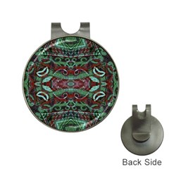 Tribal Ornament Pattern In Red And Green Colors Hat Clip With Golf Ball Marker by dflcprints