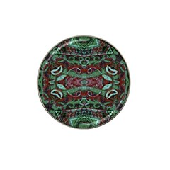 Tribal Ornament Pattern In Red And Green Colors Golf Ball Marker 4 Pack (for Hat Clip) by dflcprints