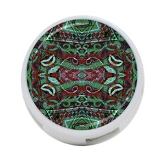 Tribal Ornament Pattern In Red And Green Colors 4 Port Usb Hub (one Side) by dflcprints