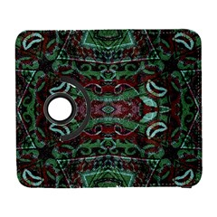 Tribal Ornament Pattern In Red And Green Colors Samsung Galaxy S  Iii Flip 360 Case by dflcprints