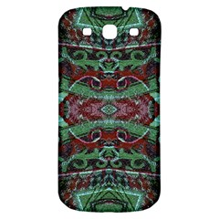 Tribal Ornament Pattern In Red And Green Colors Samsung Galaxy S3 S Iii Classic Hardshell Back Case by dflcprints