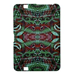 Tribal Ornament Pattern In Red And Green Colors Kindle Fire Hd 8 9  Hardshell Case by dflcprints