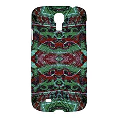 Tribal Ornament Pattern In Red And Green Colors Samsung Galaxy S4 I9500/i9505 Hardshell Case by dflcprints