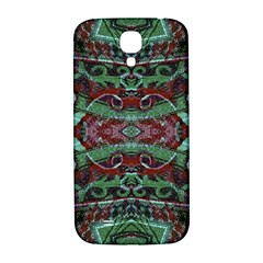 Tribal Ornament Pattern In Red And Green Colors Samsung Galaxy S4 I9500/i9505  Hardshell Back Case by dflcprints