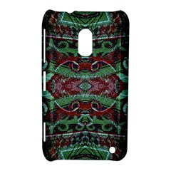 Tribal Ornament Pattern In Red And Green Colors Nokia Lumia 620 Hardshell Case by dflcprints