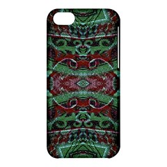 Tribal Ornament Pattern In Red And Green Colors Apple Iphone 5c Hardshell Case by dflcprints