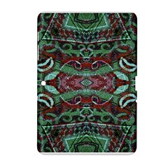 Tribal Ornament Pattern In Red And Green Colors Samsung Galaxy Tab 2 (10 1 ) P5100 Hardshell Case  by dflcprints