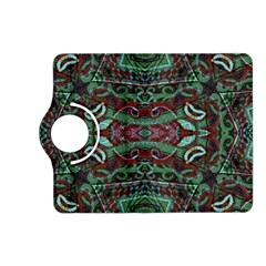 Tribal Ornament Pattern In Red And Green Colors Kindle Fire Hd (2013) Flip 360 Case by dflcprints