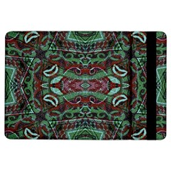 Tribal Ornament Pattern In Red And Green Colors Apple Ipad Air Flip Case by dflcprints