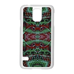 Tribal Ornament Pattern In Red And Green Colors Samsung Galaxy S5 Case (white) by dflcprints